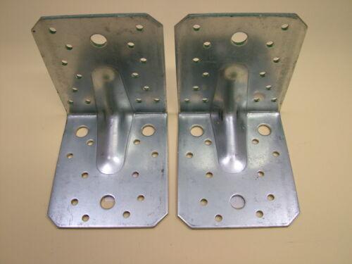 Pack 4 galvanisé renforcé Angle L Parenthèses Corner Brace 105x105x90mm 3 épais