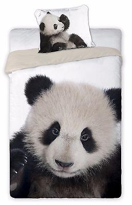 Panda Wild Set Lenzuola Letto Singolo ,copripiumino 160x200 Cotone