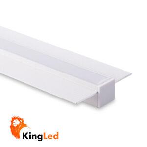 Profilo-Alluminio-LED-Incasso-a-Scomparsa-da-Cartongesso-Piatto-12MM-1MT-2MT