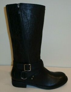 Gianni Bini Size 5.5 M Black Leather Riding Boots New Womens Shoes