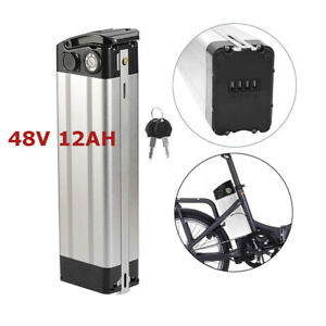 48V-12Ah-350W-Electric-Bicycle-18650-Lithium-Battery-Cell-Pack-SilverFish-E-bike