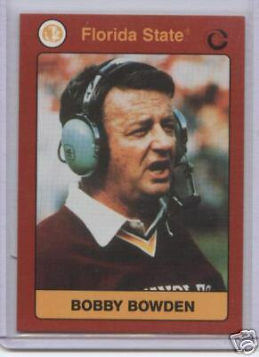 1991 Collegiate Collection Bobby Bowden  Florida State
