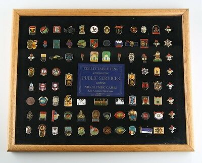 1984 Olympic Pin Set Limited Edition #54 Recognizing Public Services Los Angeles