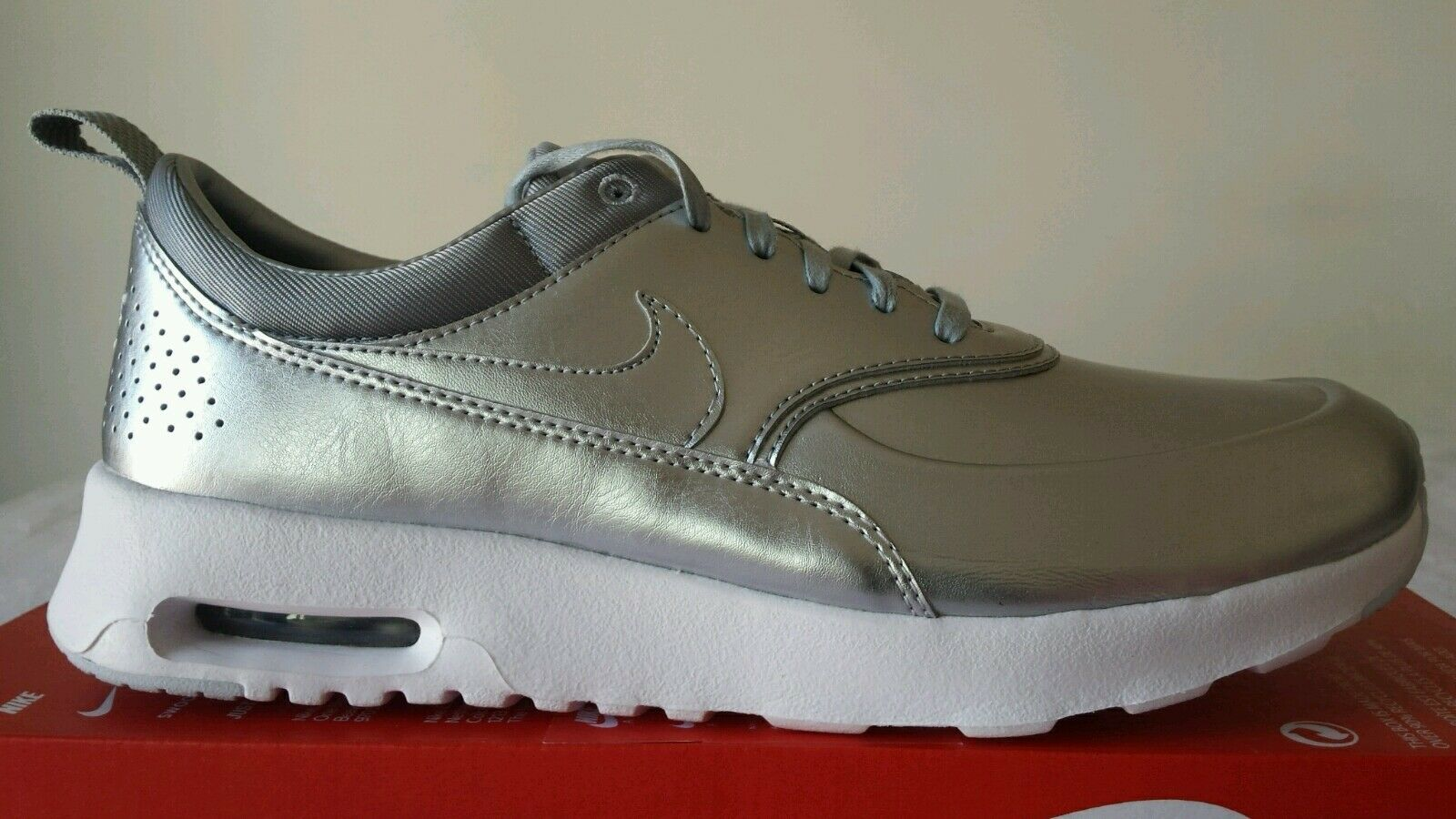 NIKE NIKE NIKE AIR MAX THEA PREMIUM WMNS ARGENTO N.40,5 STUPENDE NEW COLOR LIMITED OKSPORT d870d8