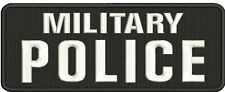 military police embroidery patch 4x10 hook on back white