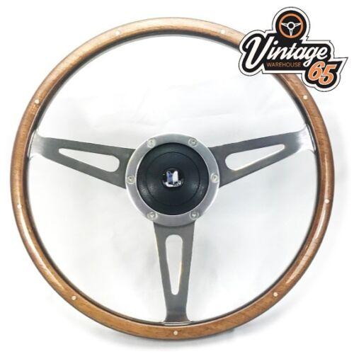 """Triumph Spitfire /> 1976 15 /"""" Classique Contour en Bois Volant de Direction Badgé"""