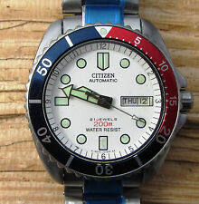 VINTAGE Citizen NY2300-09B Automatico Divers Pepsi Lunetta OYSTER BAND Est.1995