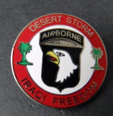 101st Airborne Div Operation Desert Storm Iraqi Freedom Lapel Pin Badge 1 inch