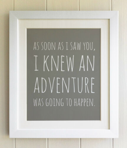 Fab Picture Gift Winnie the Pooh FRAMED QUOTE PRINT Nursery Bear Adventure