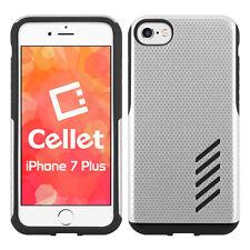 Cellet Dual Layer Anti-Slip Aviator Case for Apple iPhone 7 Plus – Chrome/Black