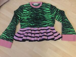 Größe striped Size S amp;m Pullover X New Jumper Neu Sweater H Kenzo Tiger 0q8CwgH