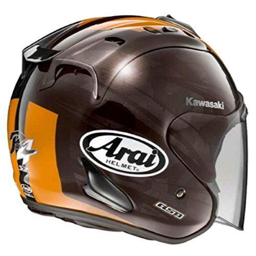 SZ-Ram4 J8010-K037 KAWASAKI ARAI collabo Blast brown   orange L size Jet Helmet