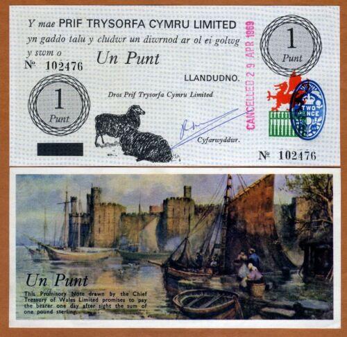 Wales 1 pound UNC 1969 P-NL Black Sheep