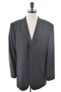 Dutti 42 Wool Large Black 3 Blazer Jacket Mens Massimo Button Size 0Bwvq0d