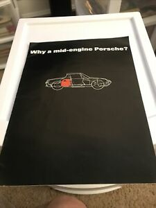 "1970 Porsche 914  ""Why a mid-engine Porsche?"" Brochure Black - RARE!! Awesome"
