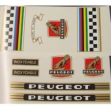 Peugeot complete set of decals vintage choices