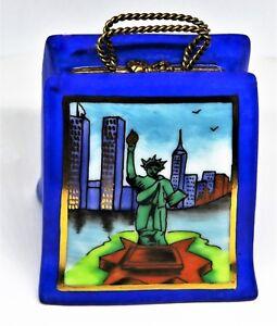 Limoges Boîte - Cabas Bourse -statue de Liberty & Twin Towers- New York Ville S81gq07t-09092216-937947921