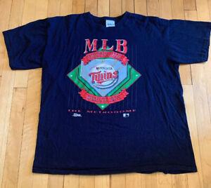 Minnesota-Twins-Vintage-90-s-Single-Stitch-Salem-Shirt-Size-XL-EUC-Rare-MLB
