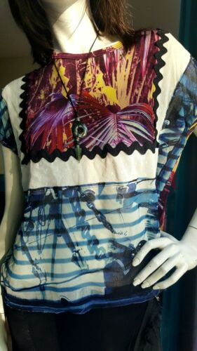 Marine Printed Jean Bright Sublime Very 36 Paul Top 38 Sun M Gaultier HFx1x8