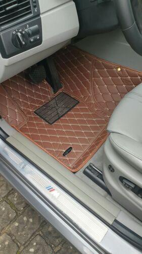 Leder Auto-Fussmatten nach Maß Mercedes E-Klasse S W211,212,213 Braun LA