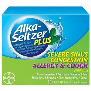 Details about Alka-Seltzer Plus Severe Sinus Congestion Allergy - Cough  Liquid Gels 20 ea 6pk
