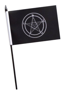 BAPHOMET CHURCH OF SATAN 3 metre BUNTING 10 FLAGS flag OCCULT