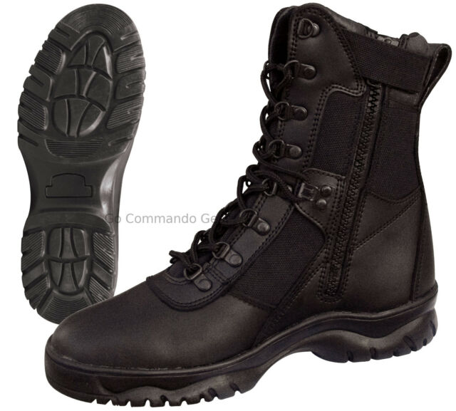 EMS w//Side Zipper 5-13 Rothco Forced Entry 5053 Black Tactical Boots for Police