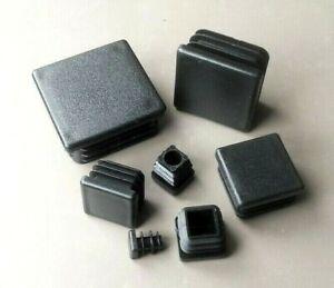 square end cap 60x60 black plastic plug caps 10 pcs