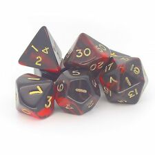 Red oblio Poly Dadi Set 7 polinomiale per d20 RPG Roleplay