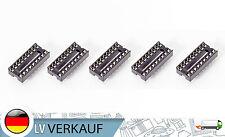 5Stück 18-Pin DIL DIP IC Mikrochip Sockel socket für Arduino Prototyping