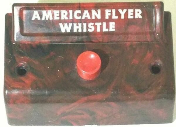American Flyer Red//Brown Mottled Whistle Control Box for Whistling Billboards .