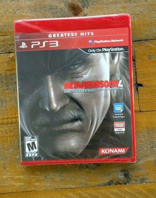 BRAND NEW - Metal Gear Solid 4 - PS3 Playstation 3 Game - Factory Sealed