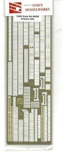 Tom-039-s-Modelworks-USS-Arizona-Photo-Etch-Rails-Detail-Set-1-426-4026-For-Revell