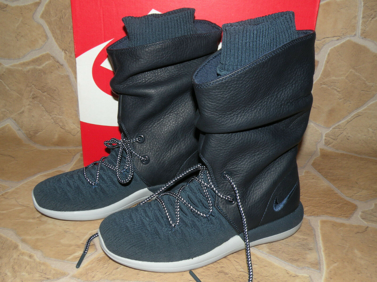 Nike W Roshe Two Hi Flyknit blau Gr.38 Damen Sneakerboot