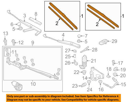 VW VOLKSWAGEN OEM 11-14 Touareg Wiper Arm-Front Blade 7P0955425B