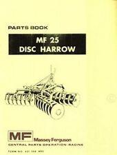 MASSEY FERGUSON MF 25 MF25 Disc Harrow Parts Manual