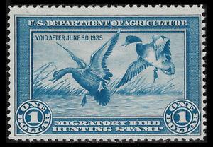 US RW1 1934 $1.00 Mallards, Mint F/VF NH OG. FREE SHIPPING