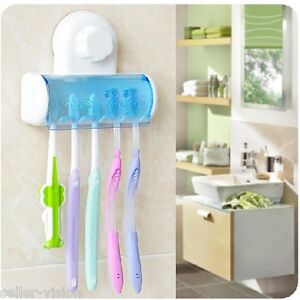 Toothbrush-SpinBrush-Suction-Cups-Holder-Stand-5-Racks-Home-Bathroom-Wall-Mount