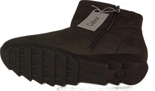 GABOR Schuhe Stiefeletten  Ankle Boot Velourleder Anthrazit  NEU OUTDOOR