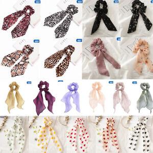 Fashion-Women-Satin-Ponytail-Scarf-Bow-Hair-Rope-Ties-Scrunchies-Ribbon-bara