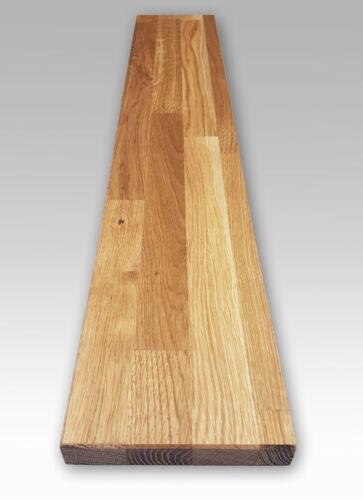 Oak Solid Wood Wall Shelf 26cm Deep//2,7cm High-Length Selectable
