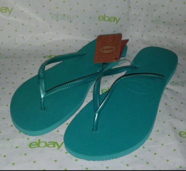b0a41c0ba64a Havaianas Slim Flip Flop Thong Sandals Lake Green Women s Size 11-12 41-