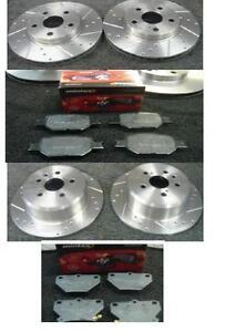 Toyota-Celica-1-8-Vvti-190-importacion-perforados-acanalado-Disco-De-Freno-amp-Mintex-almohadillas