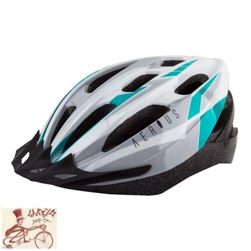 AERIUS  V19-SPORT Silver//Turquoise MEDIUM--LARGE BICYCLE HELMET