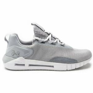 new mens under armour grey hovr strt textile trainers