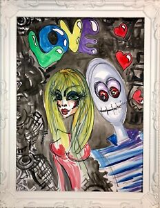 Margarita Bonke Malerei PAINTING Bild Illustration akt Street Art Graffiti love