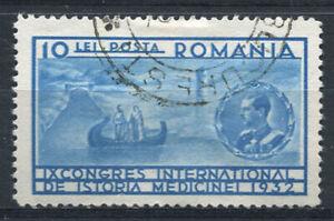 Rumaenien-1932-Mi-445-Gestempelt-100-10-L-Geschichte-der-Medizin-Bukarest