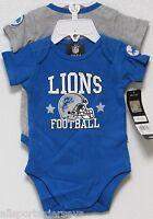 Nfl Infant Onesie-set Of 2- Detroit Lions 0-3 Months