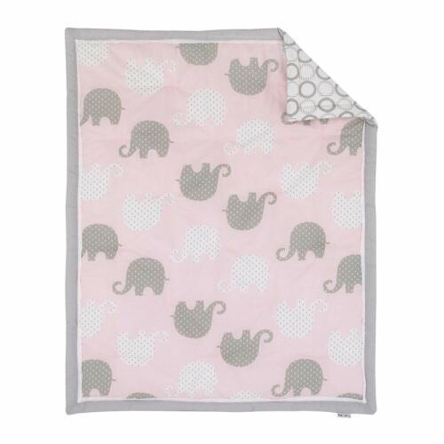 Lot PARA kunas recien nacido Juego De Cama hermosos para bebe Elefante Rosado