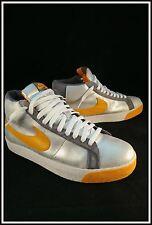 2007 Nike SB Blazer Skateboarding Skateboard Shoes Metallic Silver Orange 10.5